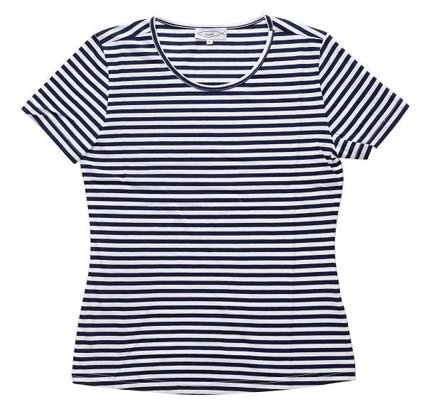 Ringelshirt Michaela Kurzarm blau weiß gestreift für Damen ... fad7305ee1